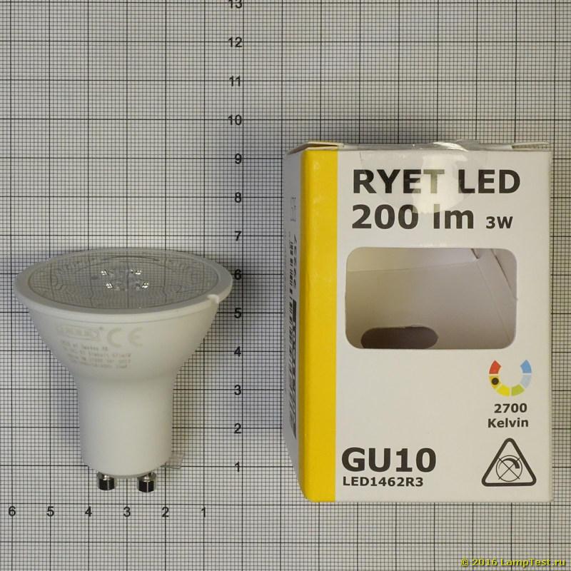 3 X Ikea New RYET Ampoule DEL GU10 400 lm Pack 3 104.346.01 UK-bmcr